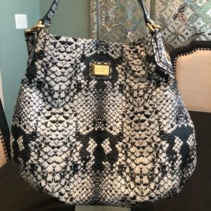 Marc Jacobs Python Embossed Faux Leather Hobo Bag